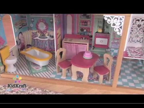 Casa De Muñecas Para Niñas De 3 Niveles 4 Dormitorios Con Balcon Y 17 Accesorios