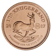 2017 South Africa 1/10 oz Gold Krugerrand 50th Anniversary Privy Gem BU SKU48542