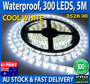 5M-Cool-White-3528-SMD-300-LED-Flexible-Waterproof-12V-Led-Strip-Lights-Car-Boat