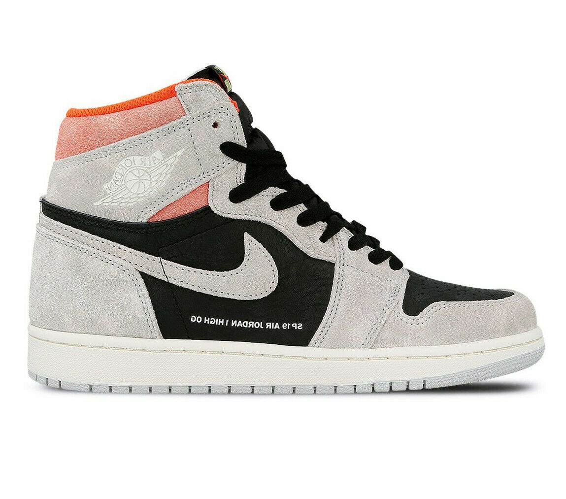 Men's Nike Air Jordan Retro 1 High OG  Neutral Grey  Fashion Sneakers 555088 018