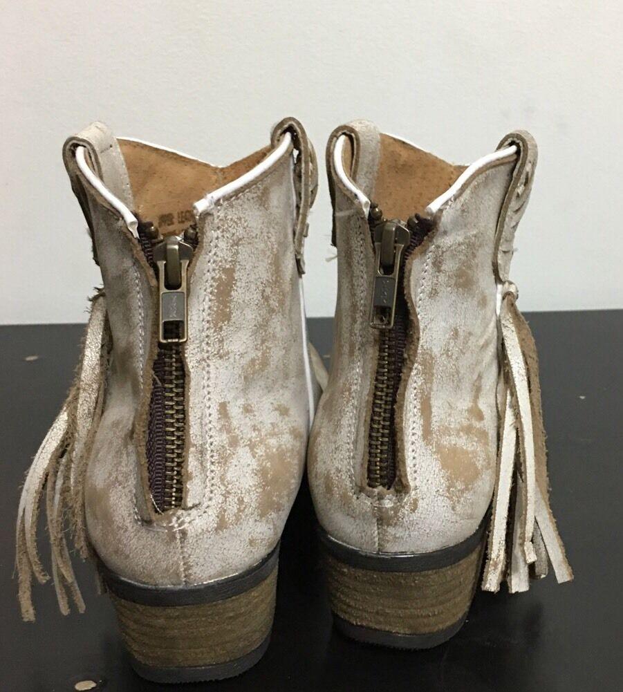 Nwt Very Volatile Vintage L.A. Bootie Cowboy Western Boots Distress Zip Up Sz6.5
