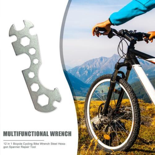 Multi Function Bicycle Flat Hexagon Wrench Spanner Bike Repair Hand Tools