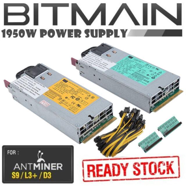 Bitmain Antminer S7 94 Platinum 1950w PSU Power Supply Kit 120v 240v 6 Pin BB