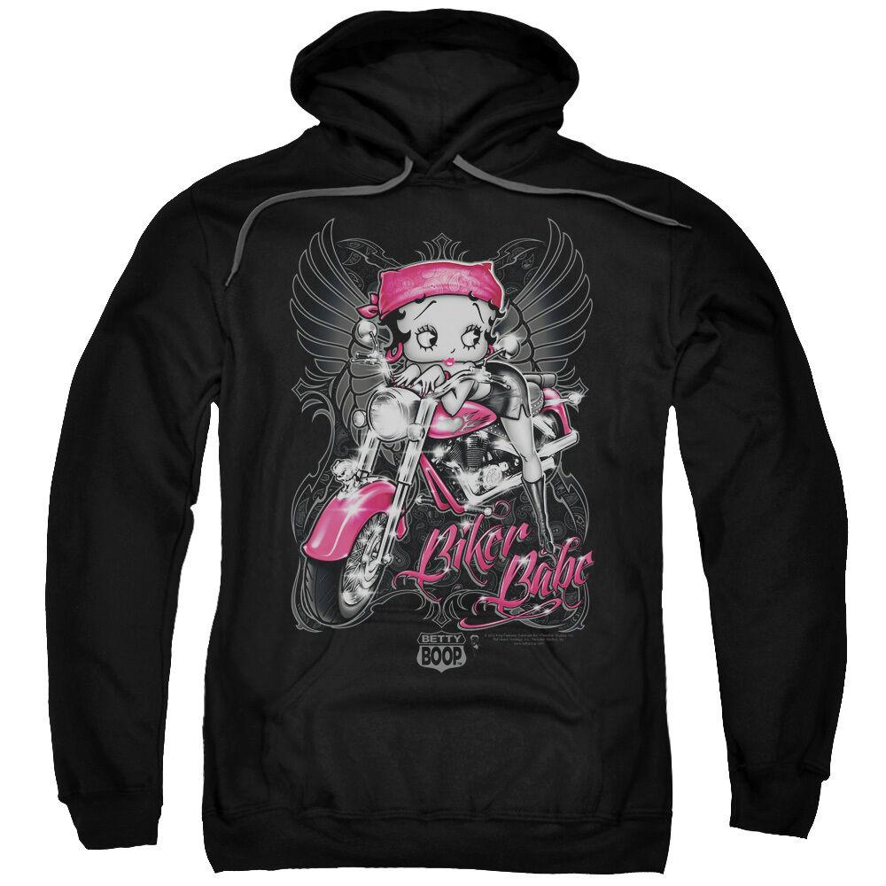 Betty Boop BIKER BABE Angel Wings Licensed Sweatshirt Hoodie