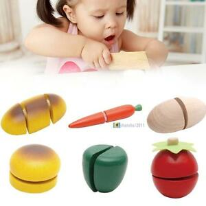 Child-Pretend-Role-Play-Kitchen-Fruits-Vegetables-Food-Toy-Wooden-Cutting-Set-T0