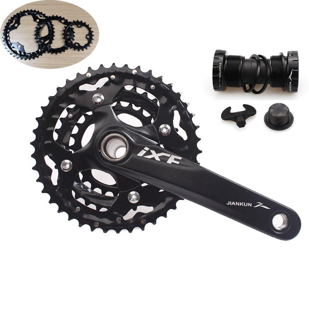 3x10S 104BCD MTB Bike Crankset 24 32 42T Triple Speed Chainring 170mm Crank BB