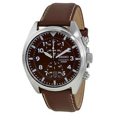 Seiko Chronograph Brown Dial Mens Watch SNN241