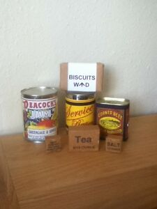 REPRO-WW1-BRITISH-RATIONS-SET-EDIBLE-BUT-SOLD-FOR-DISPLAY