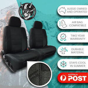 GREY FRONT CAR SEAT COVERS HIGH QUALITY ELEGANT JACQUARD HOLDEN RODEO