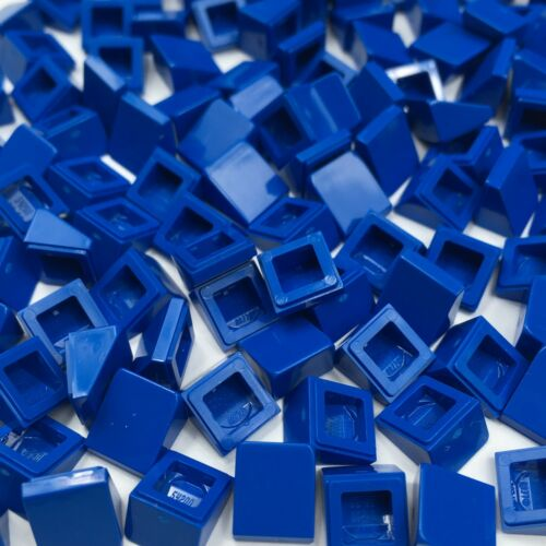 Lego 100 x Blue 1x1 2//3 Cheese 54200 Slope Wedge Small Brick Plate New Genuine