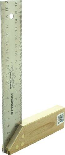 Promat Schreinerwinkel L.400mm Buche//Ms mit Gehrung  mit Maßeinteilung