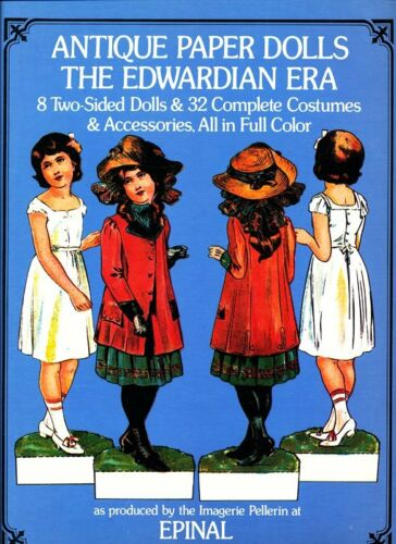 Edwardian Antique 2 Sided Paper Dolls from Epinal, FR Full Color 1975 NMMT