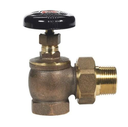 """4 HVAC 3//4/"""" BRASS STEAM RADIATOR SHUT OFF VALVES WITH NUTS AND COUPLINGS NEW!"""