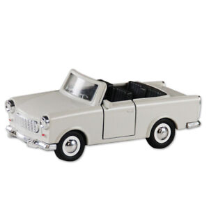 Trabi-Trabant-Cabrio-beige-Berlin-Modellauto-DDR-Metall-12-cm-NEU