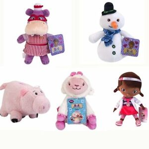 Disney-Doc-McStuffins-Dragon-Chilly-Snowman-Hallie-Hippo-Lambie-Plush-Toy-Doll