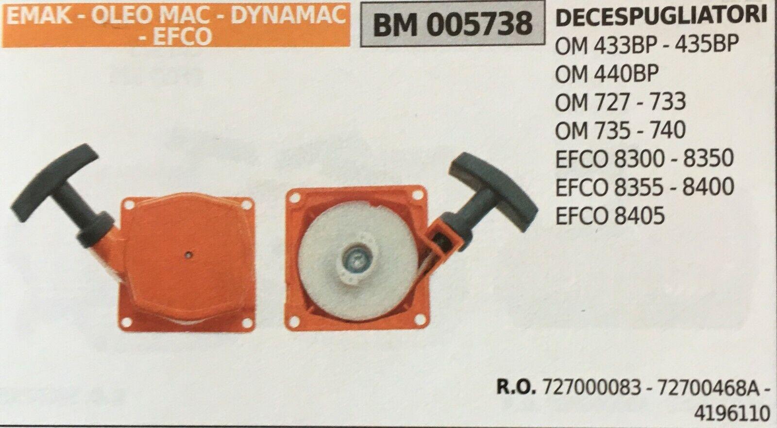 START KOMPLETT BRUMAR EMAK - OLEO MAC - DYNAMAC - EFCO BM005738