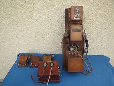 ANCIEN TÉLÉPHONE BOIS VIEUX TELEPHONE OLD PHONE BROCANTE