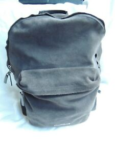 317d49bfd4e Image is loading Armani-Exchange-Black-Suede-leather-backpack-Laptop-Travel-