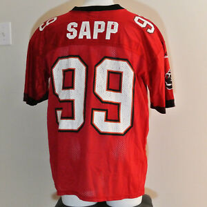 uk availability ba24e 3de98 Details about Vintage Warren Sapp Tampa Bay Buccaneers Adidas NFL Jersey  Size Large Red