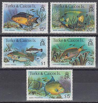 Treu Turks & Caicos 1983 ** Mi.405/19 Iii Fische Fish Karibik Briefmarken sq5852