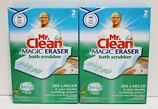 Mr CLEAN Magic Eraser Bath Scrubber With Febreze 4ct NIB