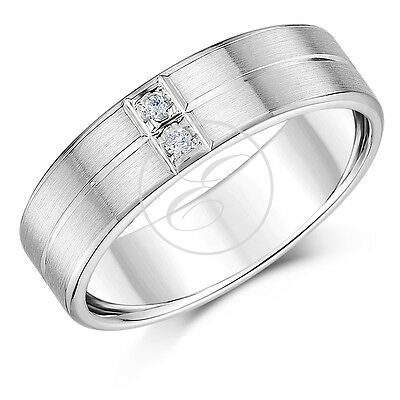 Palladium Wedding Ring 950 Diamond Men S 6mm Ring Ebay