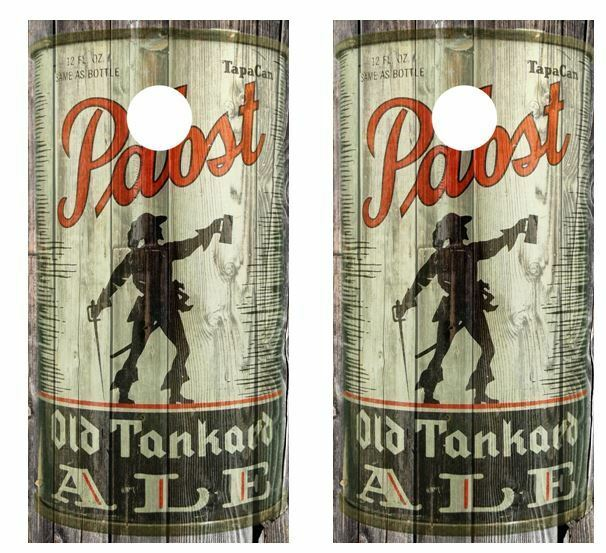 Vintage Pabst Old Tankard Ale  - Beer Can Barnwood Cornhole Board Wraps  get the latest