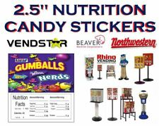 25 X 25 Bulk Vending Label Candy Machine Sticker Gumball Nerd Gumball