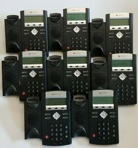 Lot-of-8-Polycom-SoundPoint-IP-330-Phones-Base-units-only-as-is-untested
