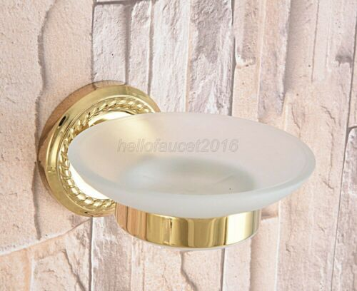 Gold Color Brass Wall Mounted Soap Dish Holder Bathroom Accessories