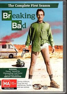 BREAKING-BAD-THE-COMPLETE-FIRST-SEASON-DVD-R4-2009-3-Disc-Set-Bryan-Cranston