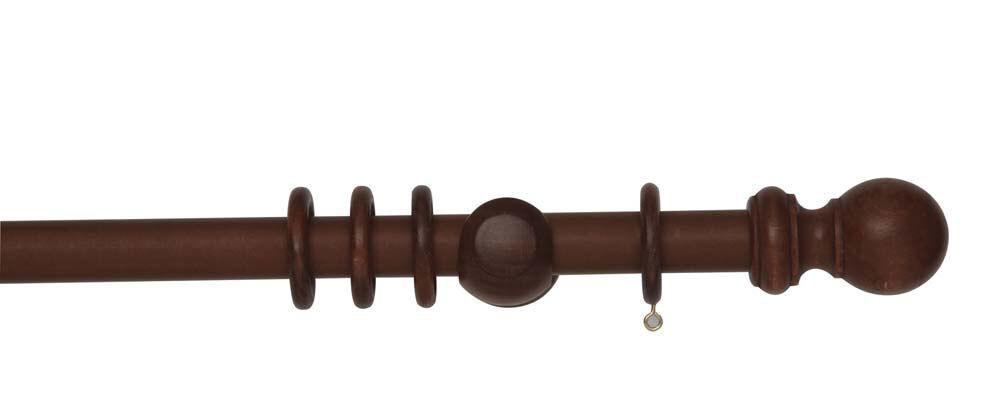 Rolls woodline palissandre bois 28mm tringle à rideau 240cm balle embouts livraison gratuite | Matière Choisie