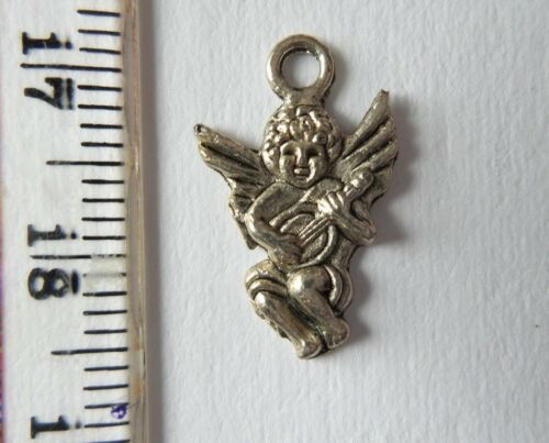 10 Silver alloy Angel Charms for Crafts Cards Favours Bracelet Necklace