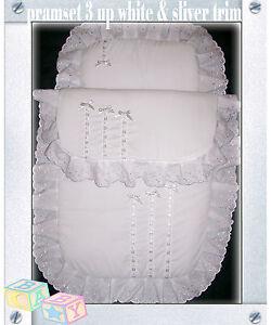 New-Handmade-Babys-2-Piece-Pramset-Pram-set-Blanket-Quilt