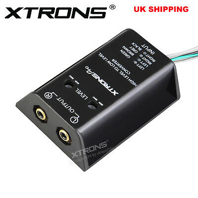 XTRONS Speaker to RCA Converter High to Low Line Level Adjustable Cable Adapter