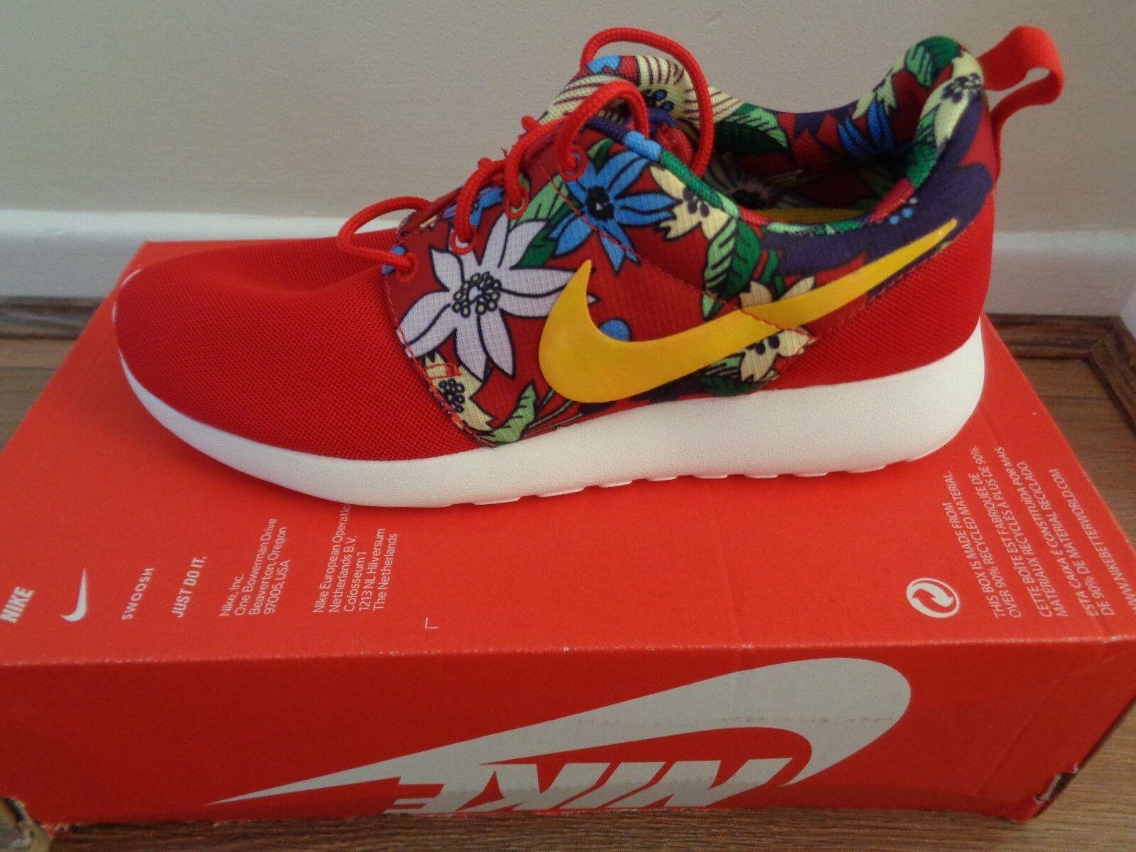 Nike Roshe Run print Femme trainers sneakers chaussures 599432 674 NEW+BOX