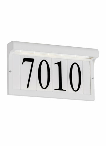 Sea Gull Lighting 5 Tile Address Plaque Frame Home Décor Garden Plaques