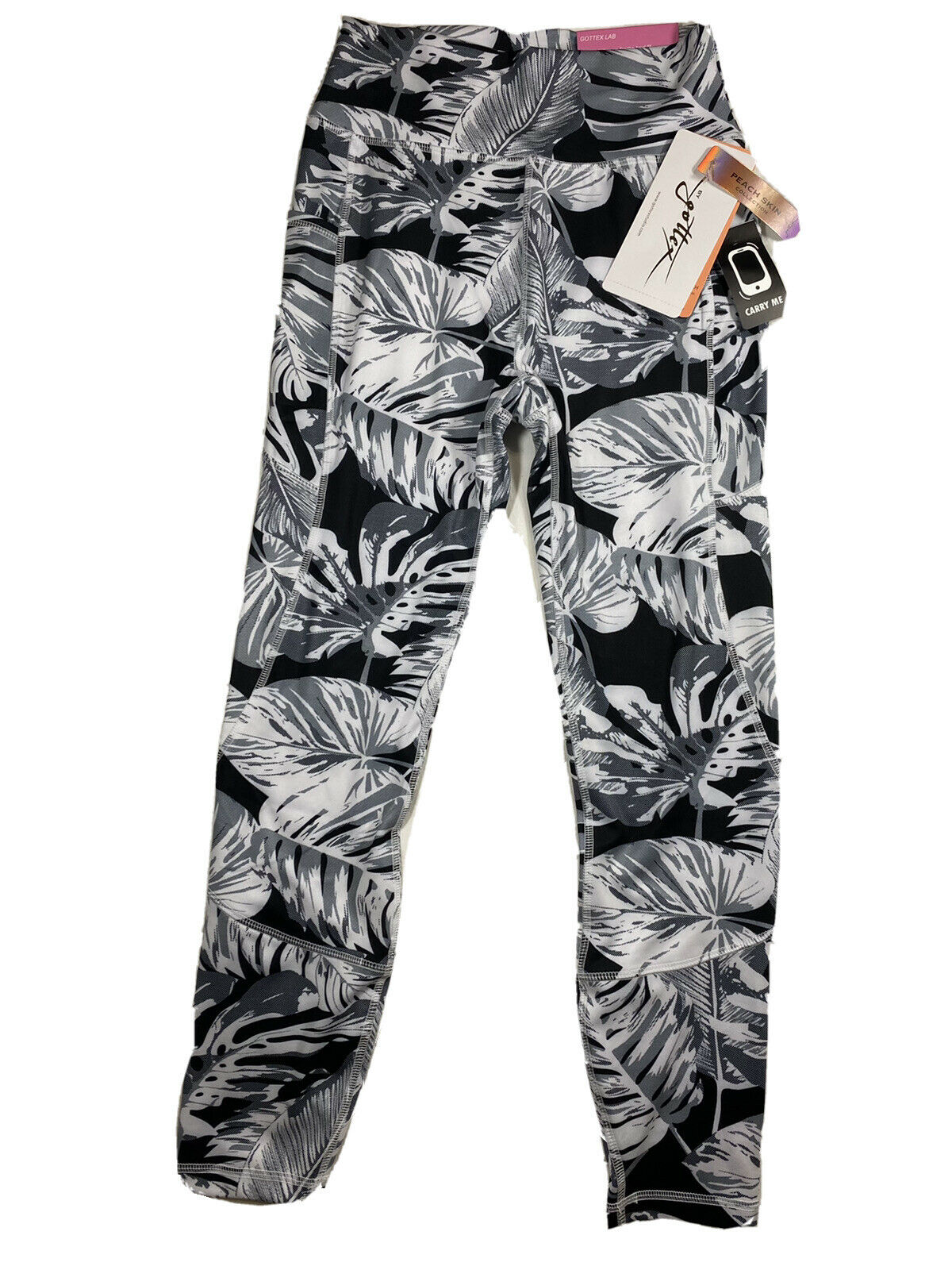 Gottex Womens Leggings Peach Collection Size Small Color Leaf MSRP