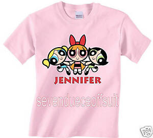 3346417c6 Details about NEW CUSTOM PERSONALIZED POWERPUFF GIRLS PINK T SHIRT
