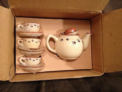 Boyds Bears Caitlin's Mini Tea Set W//Box /& Cert Of Authenticity Bearware Retired