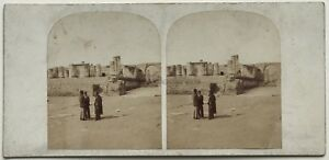Pompei-Tempio-Da-Jupiter-Italia-Foto-Stereo-Vintage-Albumina-c1860