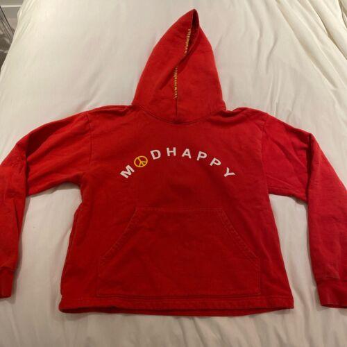 MADHAPPY Unisex Red Peace Hoodie Sweatshirt M