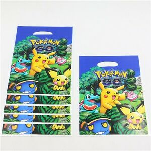 Image Is Loading Kids Pokemon Birthday Party Supplier Gift Bag Tablecloth