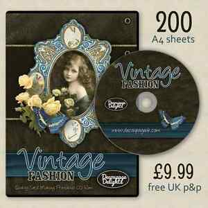 GIANT-Vintage-Ladies-and-Flowers-Quality-Card-Making-CD-Free-Fast-P-amp-P
