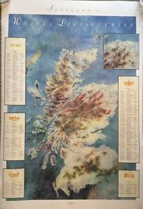 Scotch-Whisky-1991-Map-Of-Distilleries-Of-Scotland