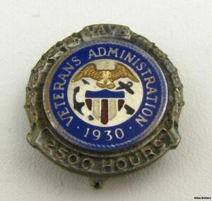 Veterani-Direzione-Volunteer-2500-Ore-Servizio-Spilla-Argento-Sterling-Vintage