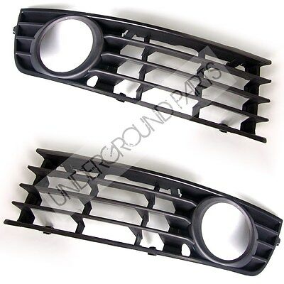 AUDI A4 B6 LEFT RIGHT FOG LIGHT LAMPS BUMPER SIDE SURROUNDS TRIMS COVERS GRILLES