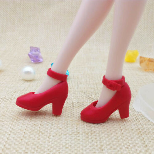 Red High Heel Shoes For Blythe Dolls 1//6 Fashion Shoes For Licca Doll Mini Shoes
