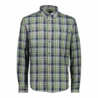 Brillante Cmp Camicia Man Shirt Blu Scuro Traspirante Facile Da Pulire Facilmente-mostra Il Titolo Originale Belle Arti