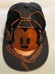 387867ea87b Image is loading Mickey-Mouse-W-Headphones-Baseball-Cap-Adult-Authentic-
